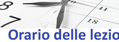 ORARIO DELLE LEZIONI IN VIGORE DAL 27 SETTEMBRE 2021